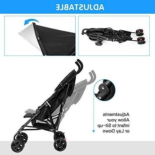 Costzon Lightweight Stroller Travel Canopy with Storag