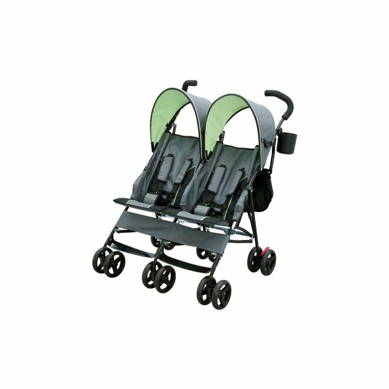 Delta by Side Tandem Stroller, Lime & Green