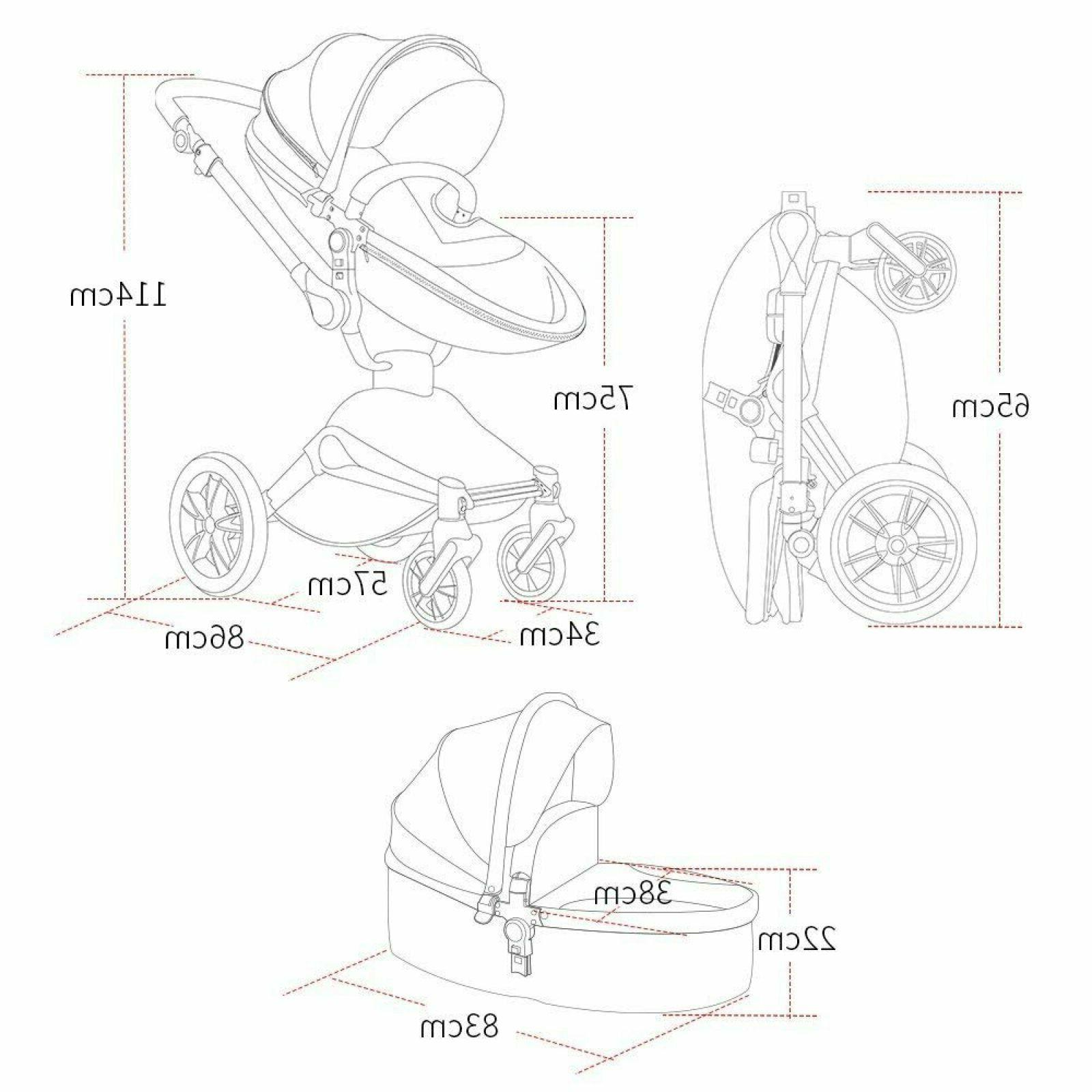 Rotation Function,Hot Travel System Pram PU