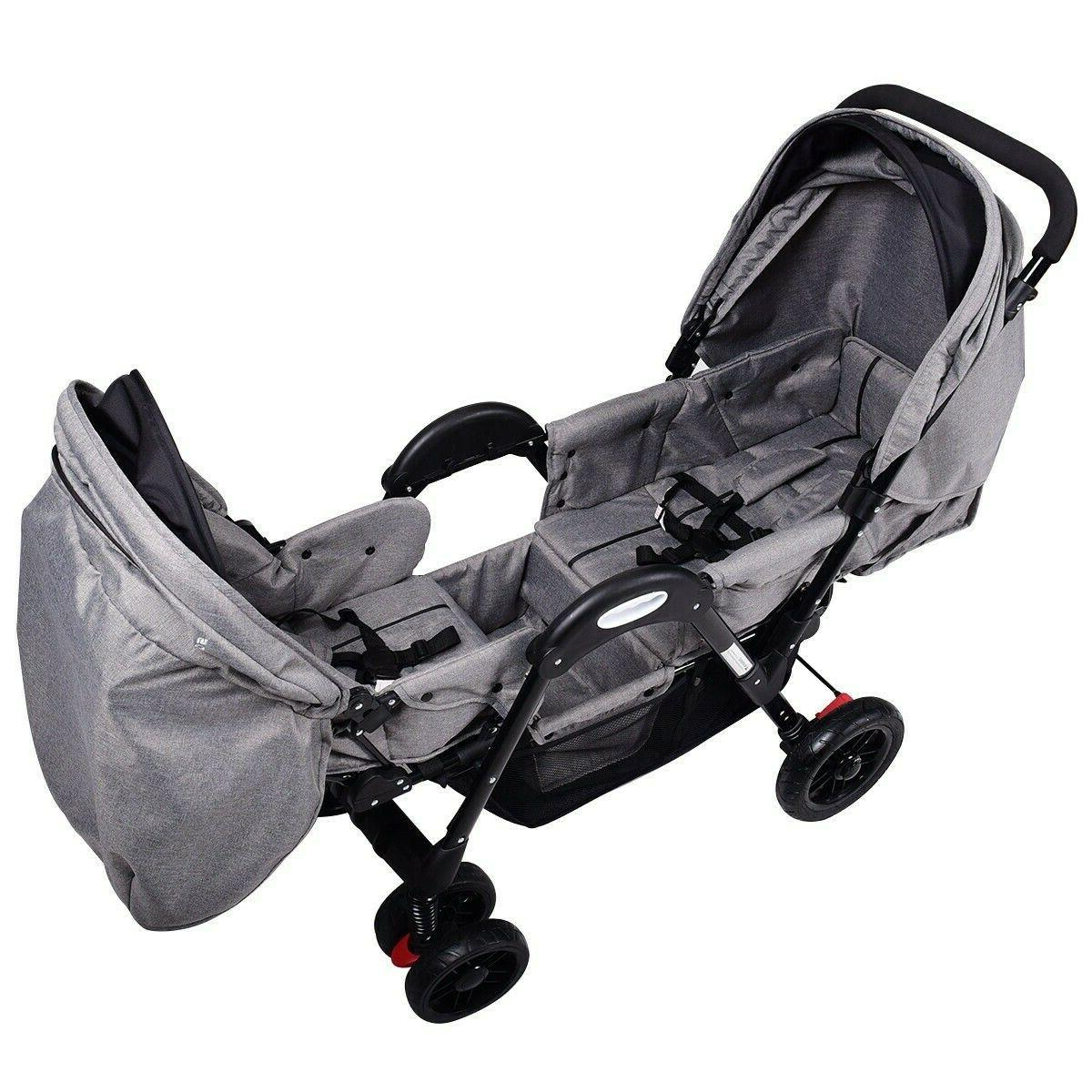 OppoSits Foldable Twin Stroller
