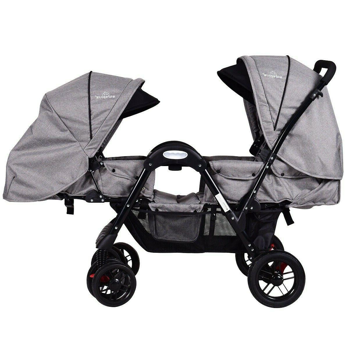 opposits foldable twin stroller fully reclining 5