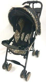 Combi Savvy Dx Stroller with Acoustic Canapy- Leopard Print