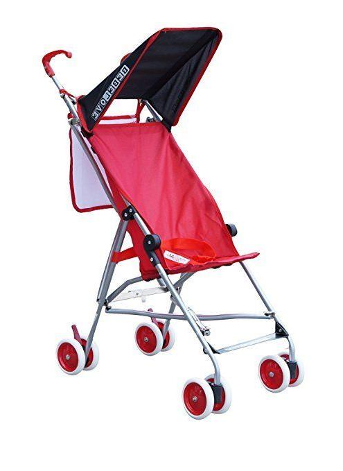 single umbrella stroller solid red