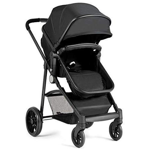 Costzon Baby In 1 Convertible Bassinet to with Foot Cup Holder, Large Wheels