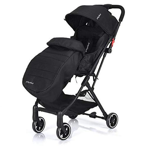 BABY JOY Baby Carriage, with Harness, Reclining Cover, Easy Compartment