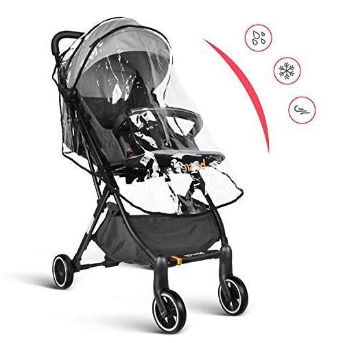 besrey Baby Stroller Baby Reclining for Airplane - Gray