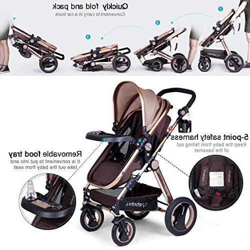 Infant for Newborn and - Cynebaby Convertible Compact Baby Toddler Luxury Pram Holder Stroller Tray