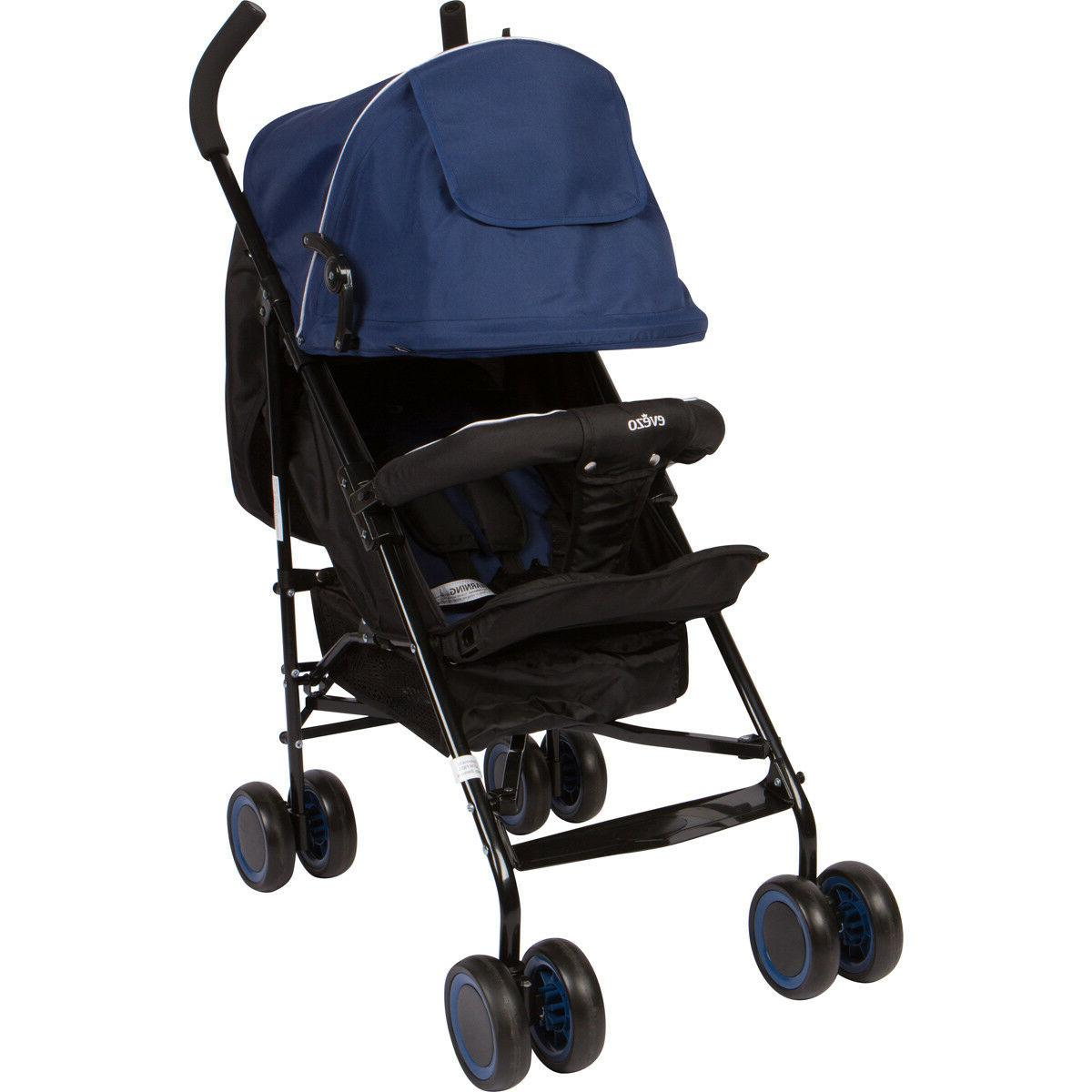 Evezo Travis Lightweight Stroller with Full Recline