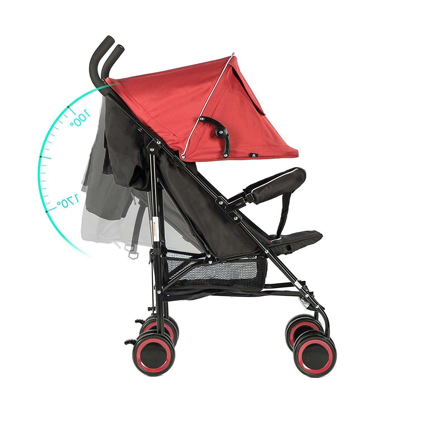 Evezo Travis Umbrella Stroller with Full