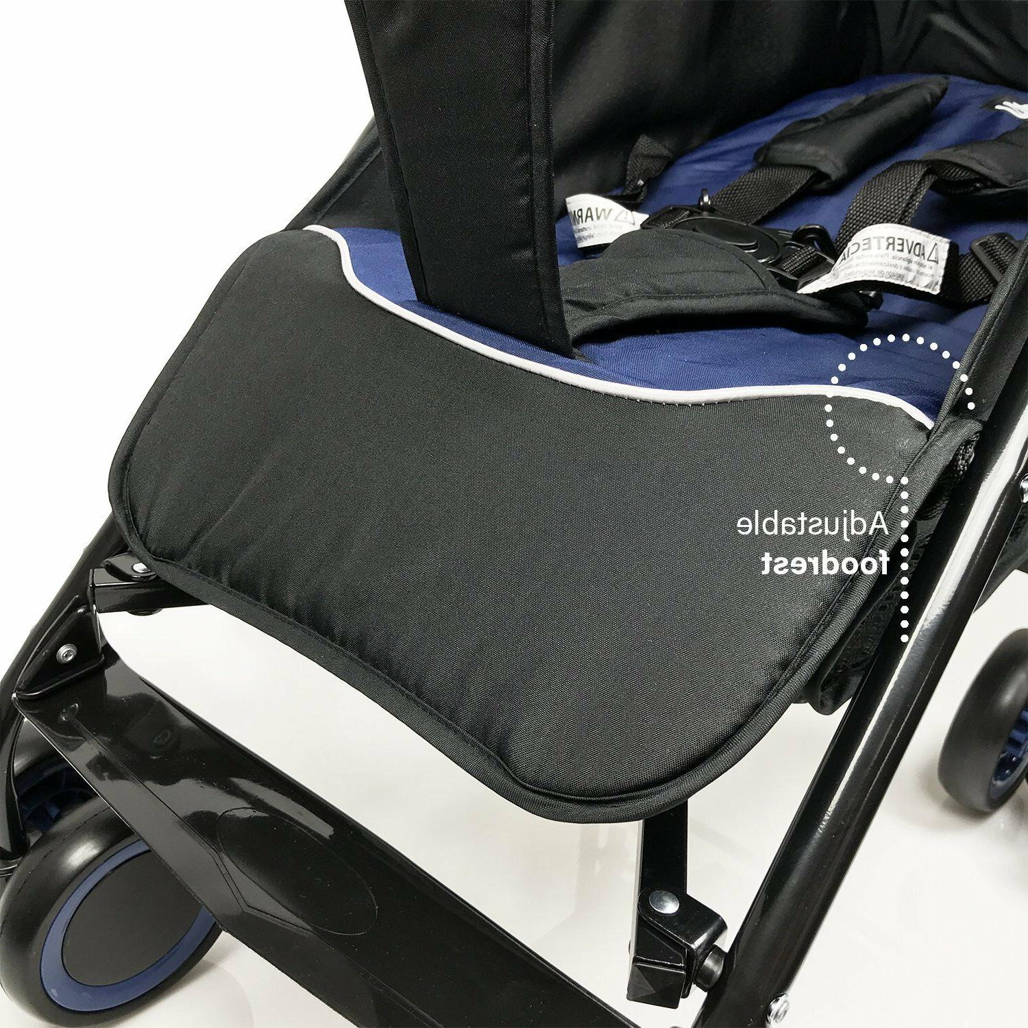 Evezo Lightweight Stroller with Full