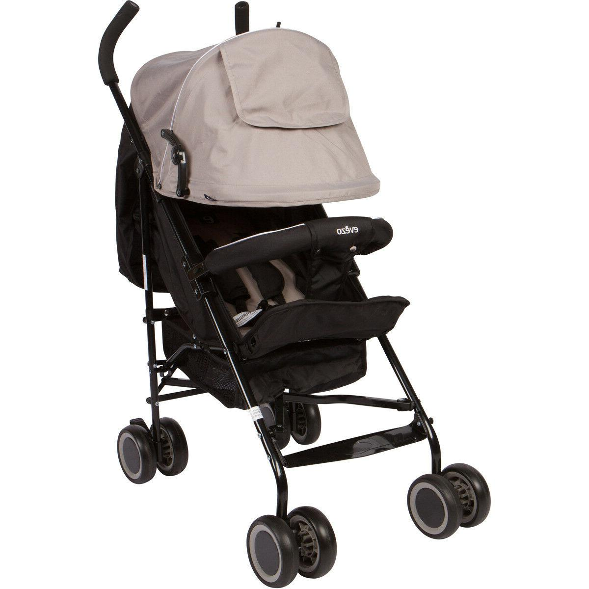 Evezo Travis Lightweight Umbrella Stroller with Canopy with