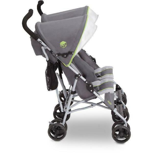 Twin Baby Stroller Umbrella Canopy 5 Point New
