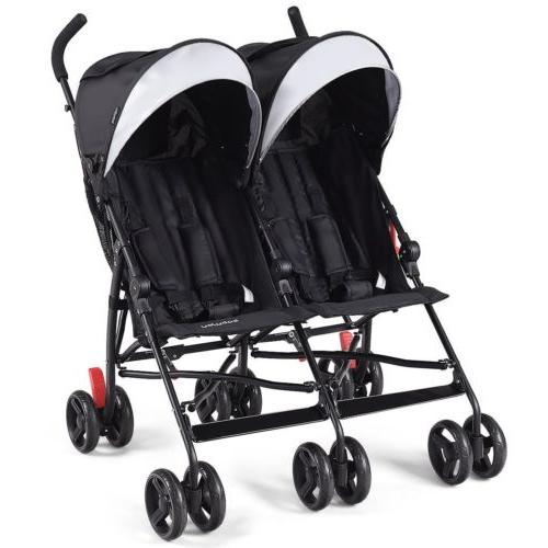 Twin Double Baby Kids Stroller Ultralight Umbrella Foldable