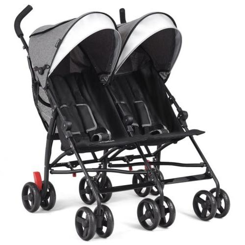 Baby Double Twin Umbrella Canopy Reclining 5 Point US
