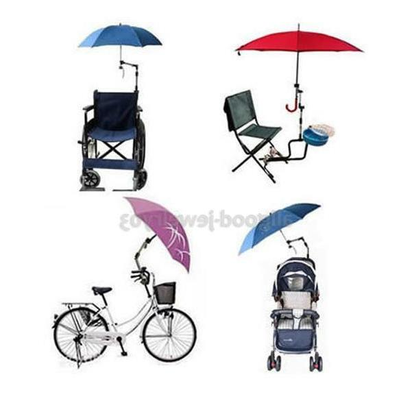 umbrella connector holder for wheelchair bicycle pushchair