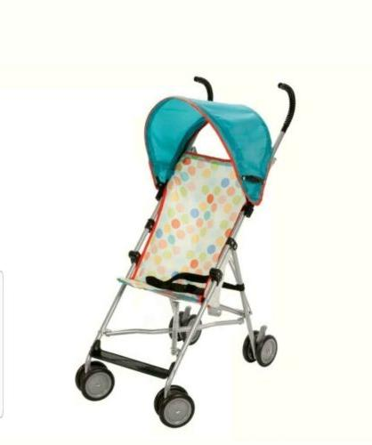 umbrella stroller with canopy in dots