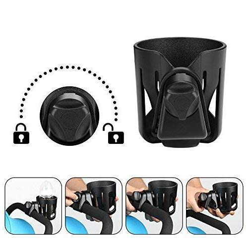 Universal Cup Accmor, Stroller Large Caliber Cup Holder, 360 Degrees Rotation Drink