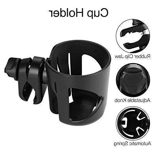 Universal Cup by Accmor, Stroller Cup Large Caliber Designed Holder, 360 Degrees Rotation