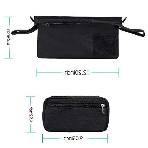 Universal Organizer with Insulated Momcozy Phone Bag & Shoulder Strap, Fits Uppababy, Bugaboo, Pet Stroller