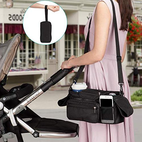 Universal Organizer Insulated Cup Momcozy Detachable Bag Strap, Fits for like Uppababy, Baby Bugaboo, BOB, Umbrella Pet