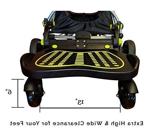 Universal Stroller Board for System for | to 70 Reinforced Stand with Adhesive, Wider Feet