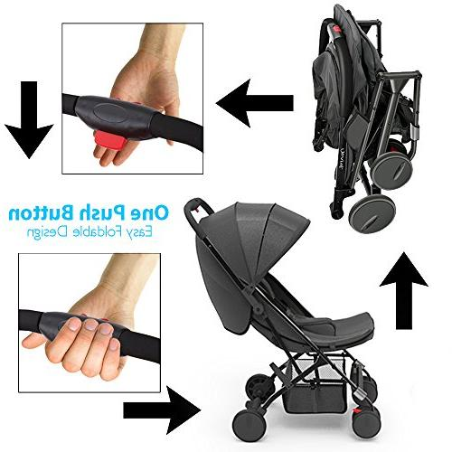Upgraded Lightweight Hand Compact Adjustable Smallest Stroller to in
