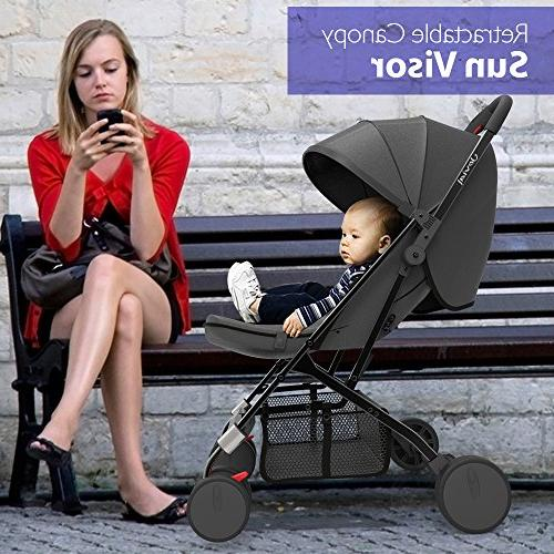 Upgraded Portable Stroller Hand Foldable Adjustable Reclining Seat, Smallest in Cars Between The by