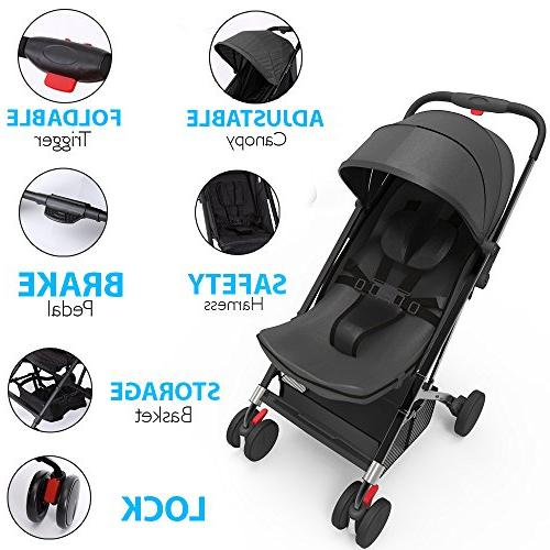 Upgraded Hand Stroller, Adjustable Smallest Stroller in Small Cars Between The Seats by