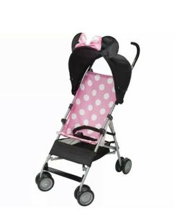 Minnie Mouse Pink Umbrella Stroller with Basket!