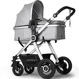 Newborn Baby Stroller by Cynebaby – Converts from Luxury B