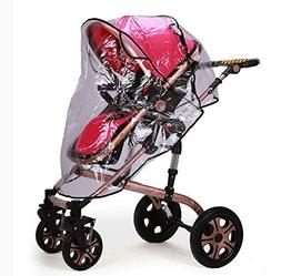 IROCH Rain cover for baby pram , Universal Pushchair Strolle
