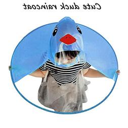 Sujing Children Raincoat Poncho Head Umbrella Novelty Headwe