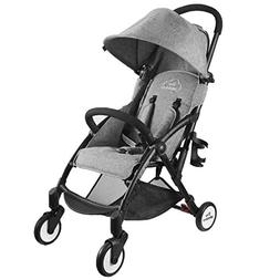 Tiny Wonders Single Baby Stroller with Dual-Brake, Portable