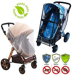 Stroller Rain Cover Baby Mosquito Net Universal Weather Shie