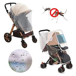 LEMESO Stroller Rain Cover + Mosquito Net Universal Baby Tra