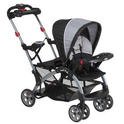 Tandem Stroller Baby Infant Sit Stand Ride Travel 2 Children
