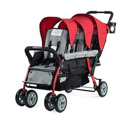Foundations Trio Sport Tandem Stroller Red
