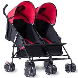 Costzon Twin Ultralight Stroller, Foldable Double Umbrella S