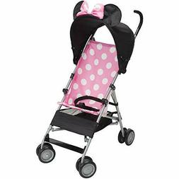 Disney Umbrella Stroller with Basket, Pink Minnie