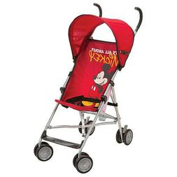 Disney Umbrella Stroller With Canopy - All About Mickey Red