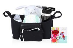 Urbanica Universal Stroller Organizer with 2 Cup Holders and