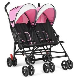 US Only: Foldable Ultralight Double Umbrella Stroller