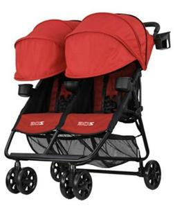 Zoe Xl2 Double Stroller Lightweight Red